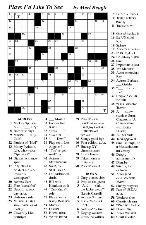 Ambitious image with regard to merl reagle printable crossword puzzles